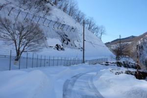 ダム管理道の状態