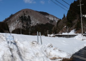 上大須林道の始点標示